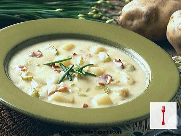 Dos recetas de Sopa de papa - COMIDA CUBANA