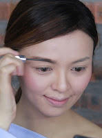 Apply Benefit Gimme Brow Volumizing Fiber Gel #3 to give my brow a slightly lighter shade and more dimensional look.