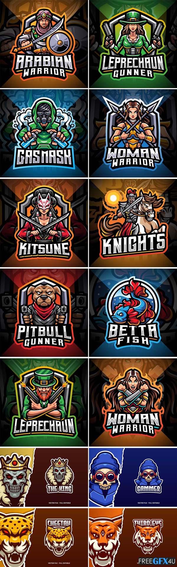 19 Mascot Logo Pack