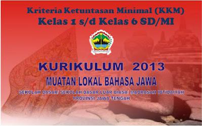 KKM Mulok Bahasa Jawa Khusus Daerah Jawa Tengah