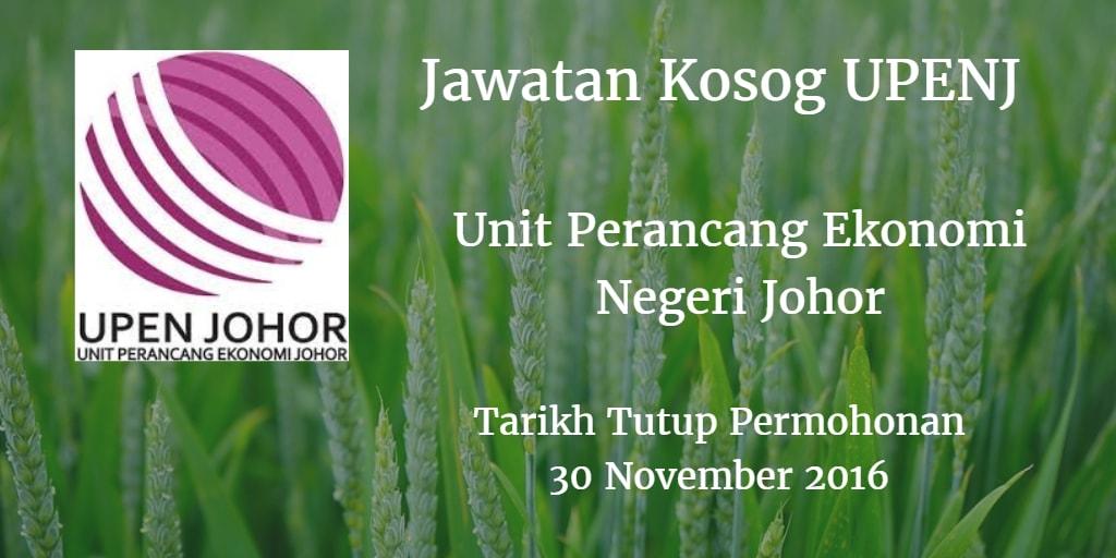 Jawatan Kosong UPENJ 30 November 2016