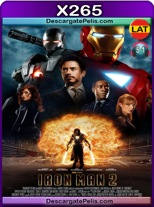 Iron Man 2 2010 1080P x265 Latino – Ingles