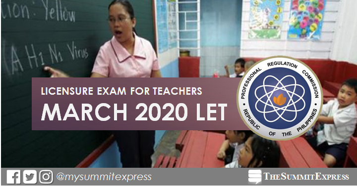 March 2020 LET board exam schedule, application requirements and deadline of filing
