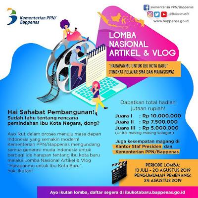 Lomba blog Bappenas