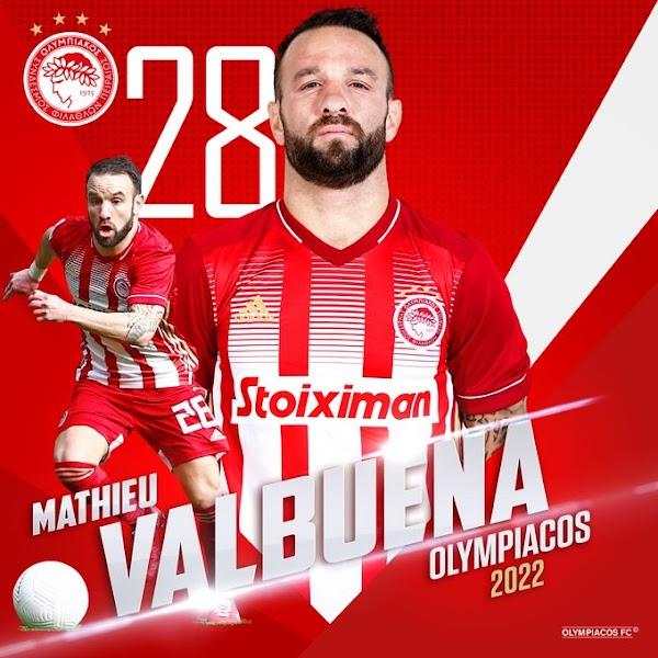Oficial: Olympiacos, renueva Valbuena hasta 2022