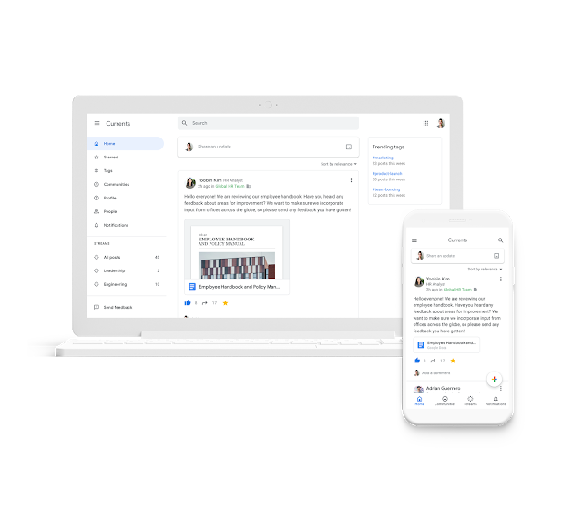 Google+ Resurrect in a Slack-similar Feature called Currents