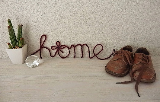 DIY: Decorational Yarn Wrapped Wire Words