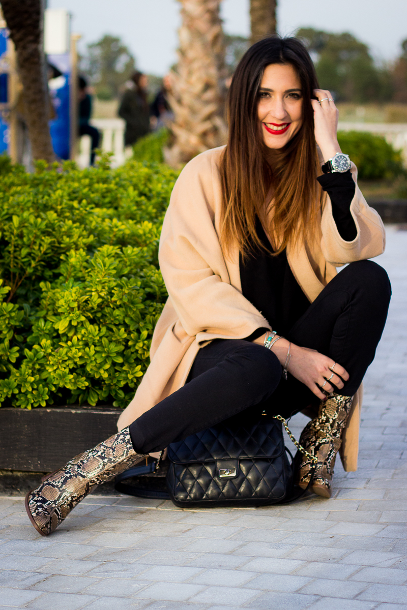 camel casual coat