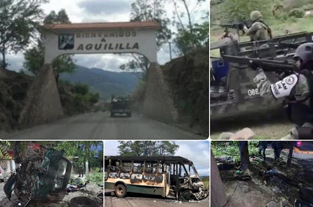 Disputas entre El CJNG vs Cárteles Unidoslo que son LNFM, Viagras desplaza a familias de Michoacan que huyen de sus Comunidades