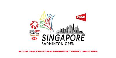 Jadual Badminton Terbuka Singapura 2020 (Keputusan)