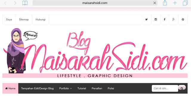 New Blog Look with www.maisarahsidi.com