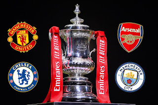 GX SPORT: FA Cup Semi-Final Fixtures: Manchester United vs Chelsea and Arsenal vs Manchester City