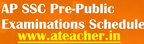 AP SSC (10th Class) Pre-Public (Pre Final) Examinations Schedule