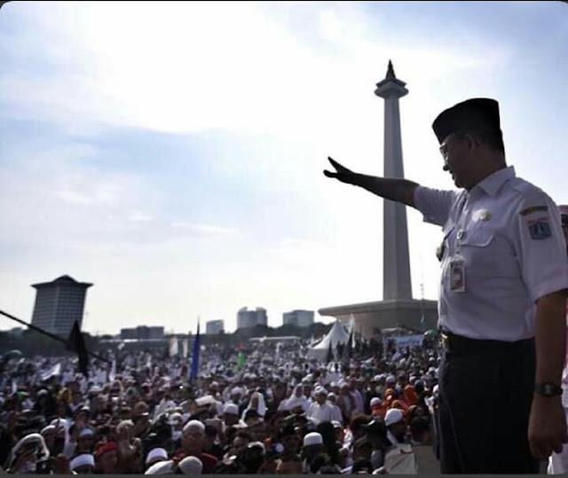 Hadiri Reuni 212, Anies Disambut Teriakan 'Gubernur Indonesia'