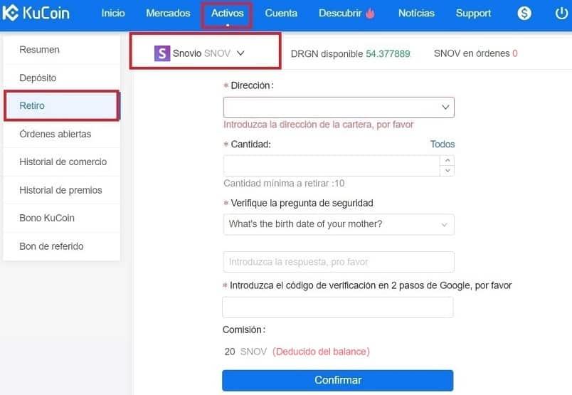 Comprar y Guardar en Wallet Moneda Snovio (SNOV) Tutorial Español