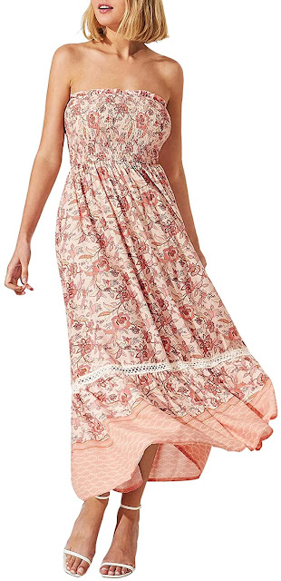 Beautiful Strapless Smocked Maxi Dresses