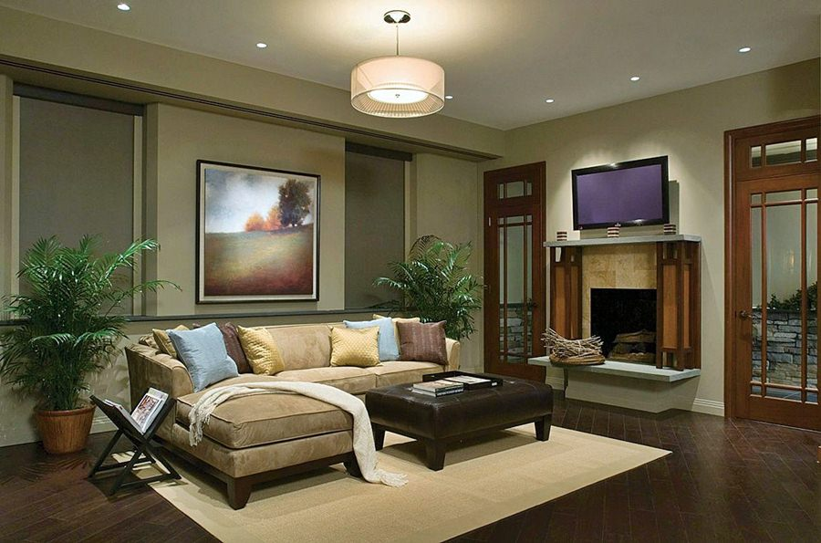 modern small living room lighting ideas