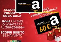 """Concorso """"Gustati Coca-Cola e vinci"""" : in palio 56 buoni Amazon da 60 euro"""