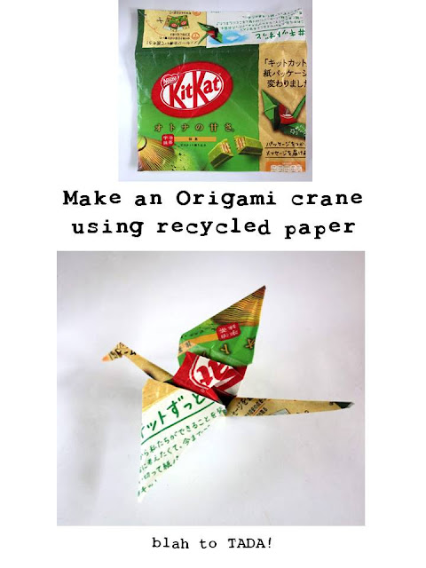 Make an Origami Crane using recycled paper