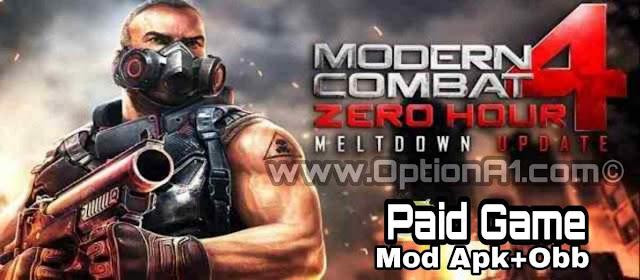 تنزيل لعبة الاكشن والقتال مودرن كومبات 4: زيرو آور Modern Combat 4 Zero Hour المدفوعة مجانا