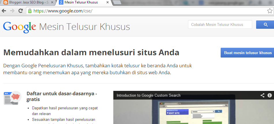Cara Pasang Custom Google Search