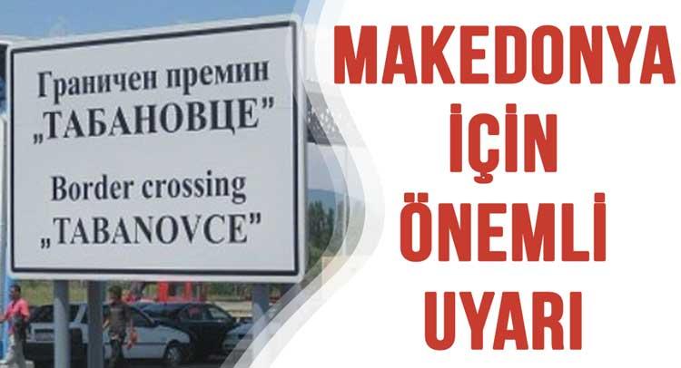 Sila Yolu Makedonya Yeşil Sigorta Kartı İçin Önemli Uyarı