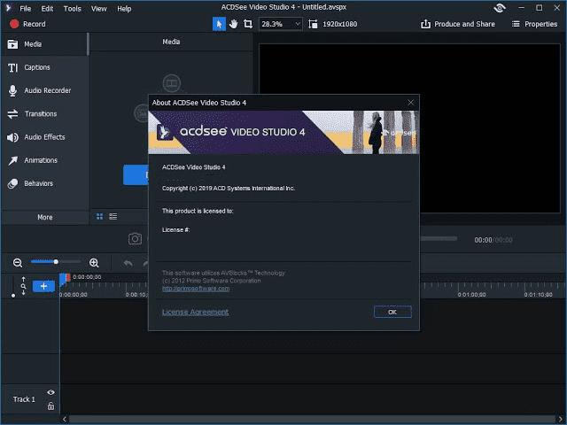 Screenshot ACDSee Video Studio 4.0.0.933 Full Version