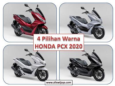 Pilihan Warna Honda pcx 2020