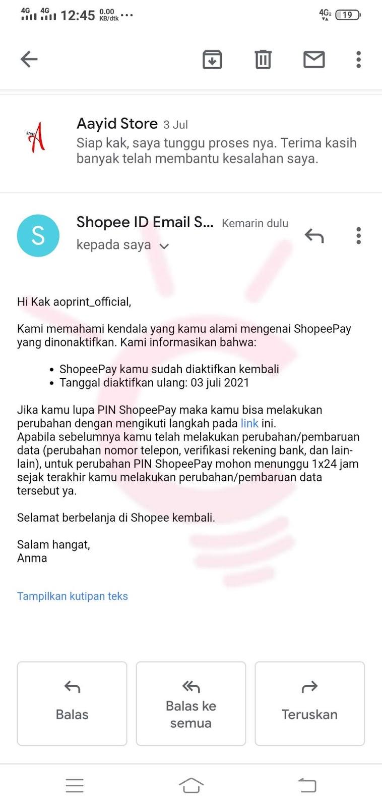 Cara Memulihkan Akun ShopeePay Yang Dinonaktifkan Karena Salah Pin