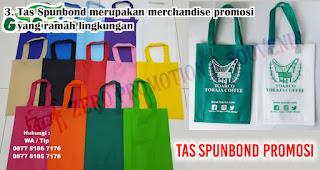 Tas Spunbond merupakan merchandise promosi yang ramah lingkungan