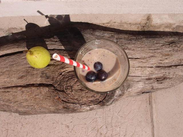 smoothie poire et raisin