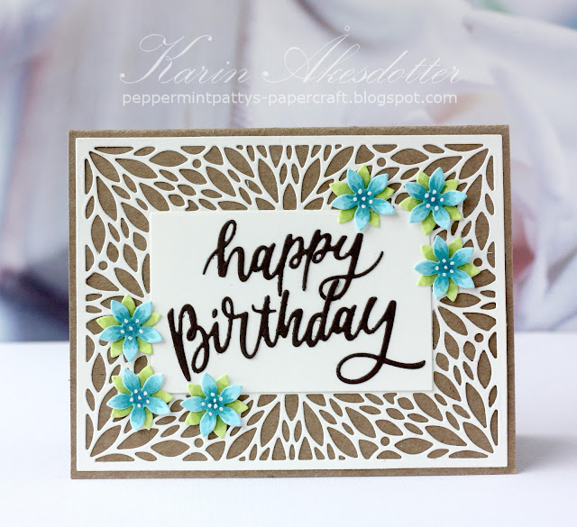 Sunny Studio Stamps: Blooming Frame Dies Birthday Card by Karin Åkesdotter
