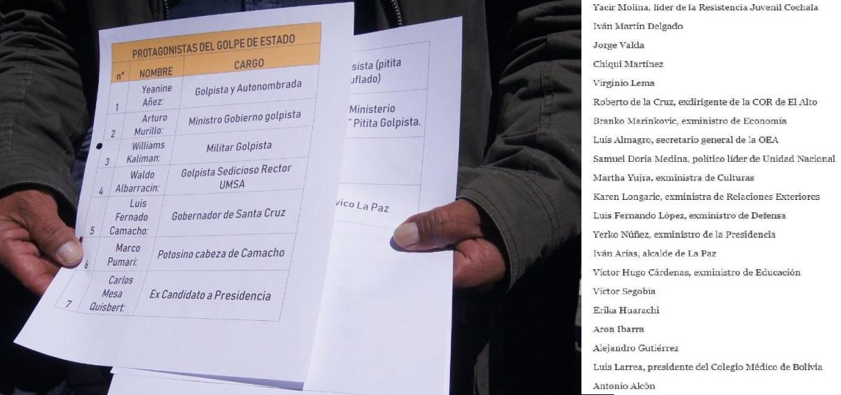 Masistas de El Alto y La Paz remitieron su lista a la Fiscalía General / LA RAZÓN / RRSS