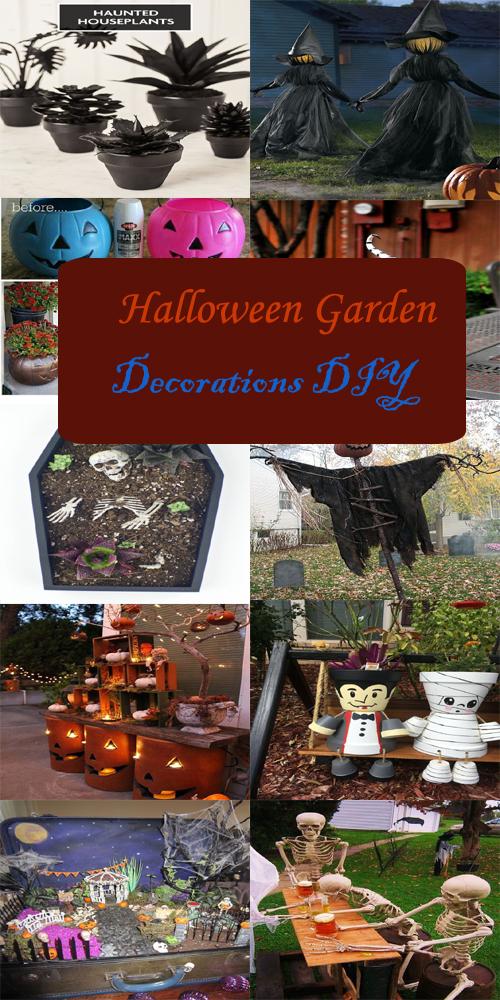 Halloween garden decorations diy dreaming gardens for M m halloween decorations