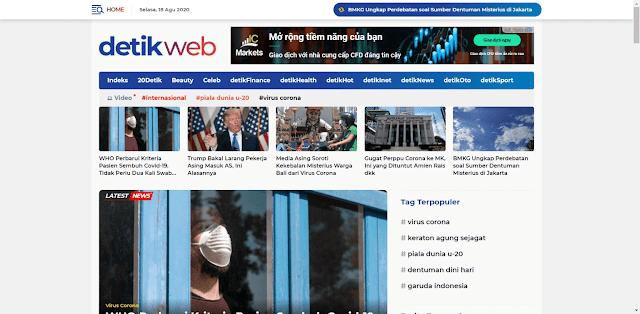 Free download Detikweb blogger template