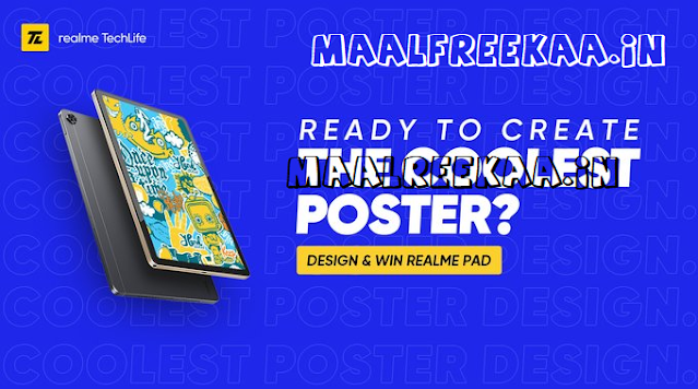 All you need to do is design a realme Pad poster