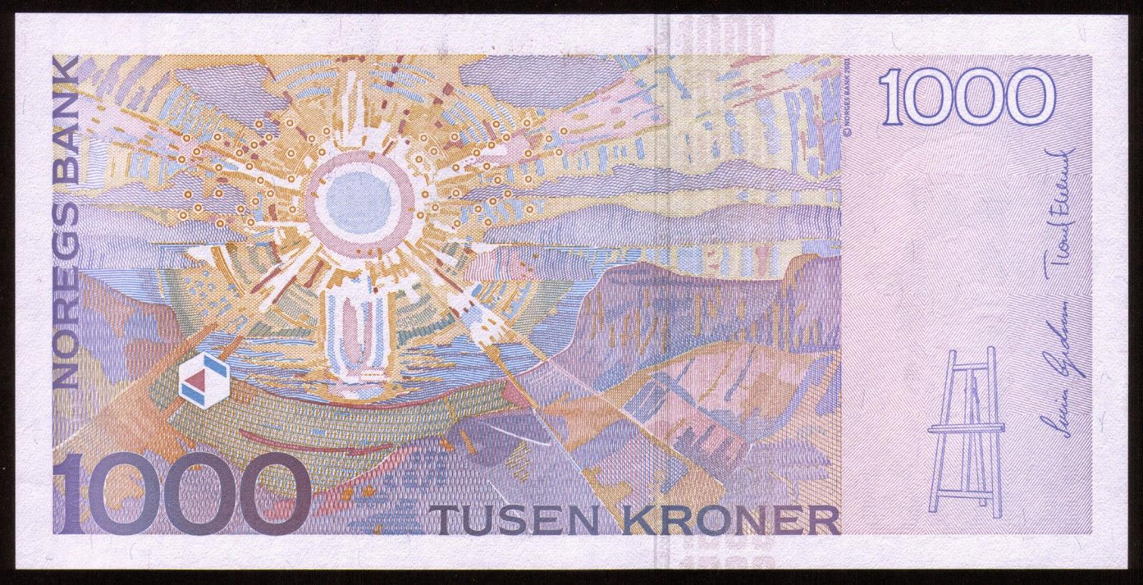 Norwegian Banknotes 1000 Norwegian Kroner note