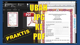 Cara Mudah Ubah Hasil Scan JPG Ke PDF Ofline