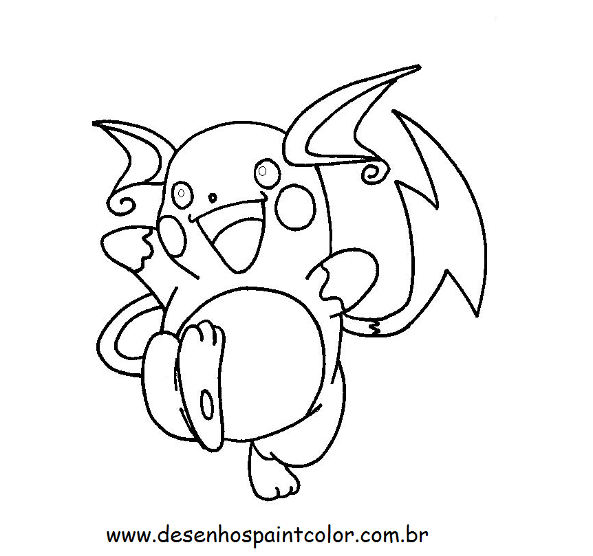 Facebook Recados: Pikachu Para Colorir E Pintar Pikachu