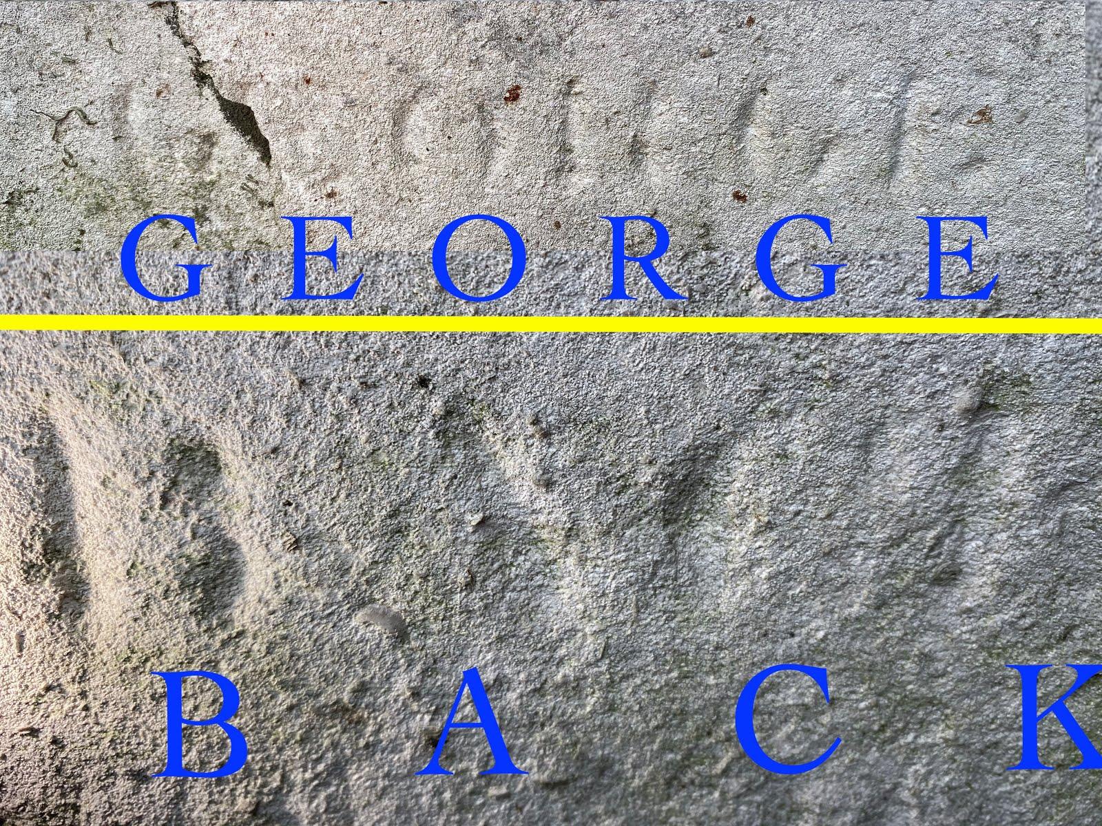 Back's inscription.