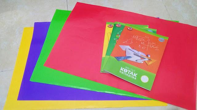 kertas sukung sampul buku anak sd