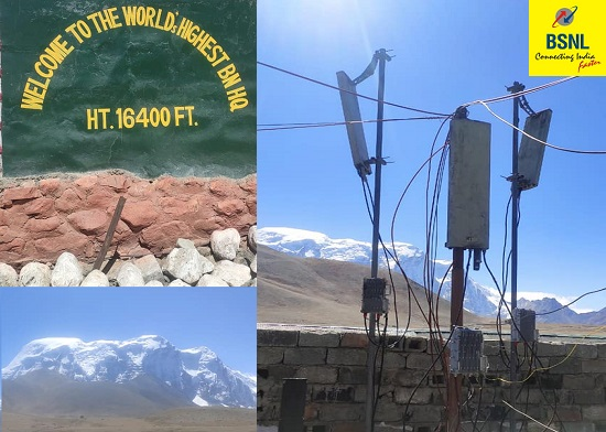 BSNL commissioned highest altitude mobile tower at Bankar, Sikkim for Indian Army || BSNL Services made mandatory to all State Governments