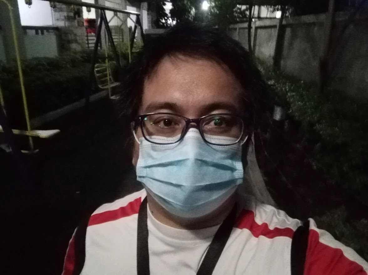 Huawei Y6p Camera Sample - Selfie with Mask at Night