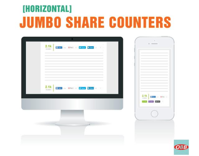 Horinzontal Share Button
