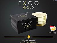EXCO GOLD NIGHT CREAM - Cream Untuk Tampil Lebih Mempesona