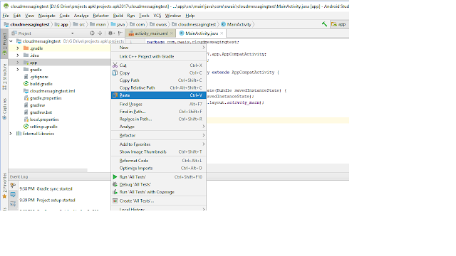 FCM firebase cloud messaging Android Studio Source Code Free