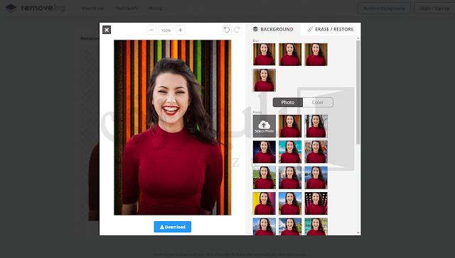 موقع قص الصور وفصلها عن الخلفية بدون تنصيب برامج فهذا الموقع يمكنك من خلالة رفع الصورة التى تريد فصلها عن الخلفية وتحدث كل هذة العملية فى بضع ثوانى فقط