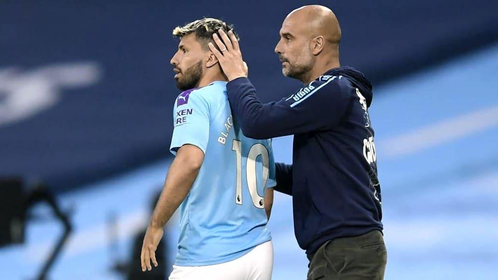 Guardiola teme que Agüero se pierda los dos primeros meses de la Premier