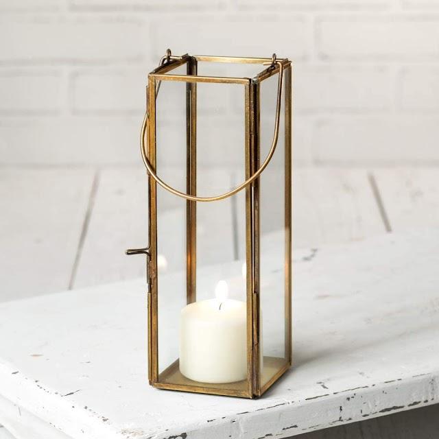 tall skinny candle lantern