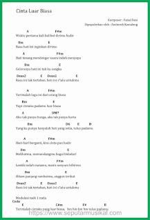 chord lagu cinta luar biasa andmesh kamaleng